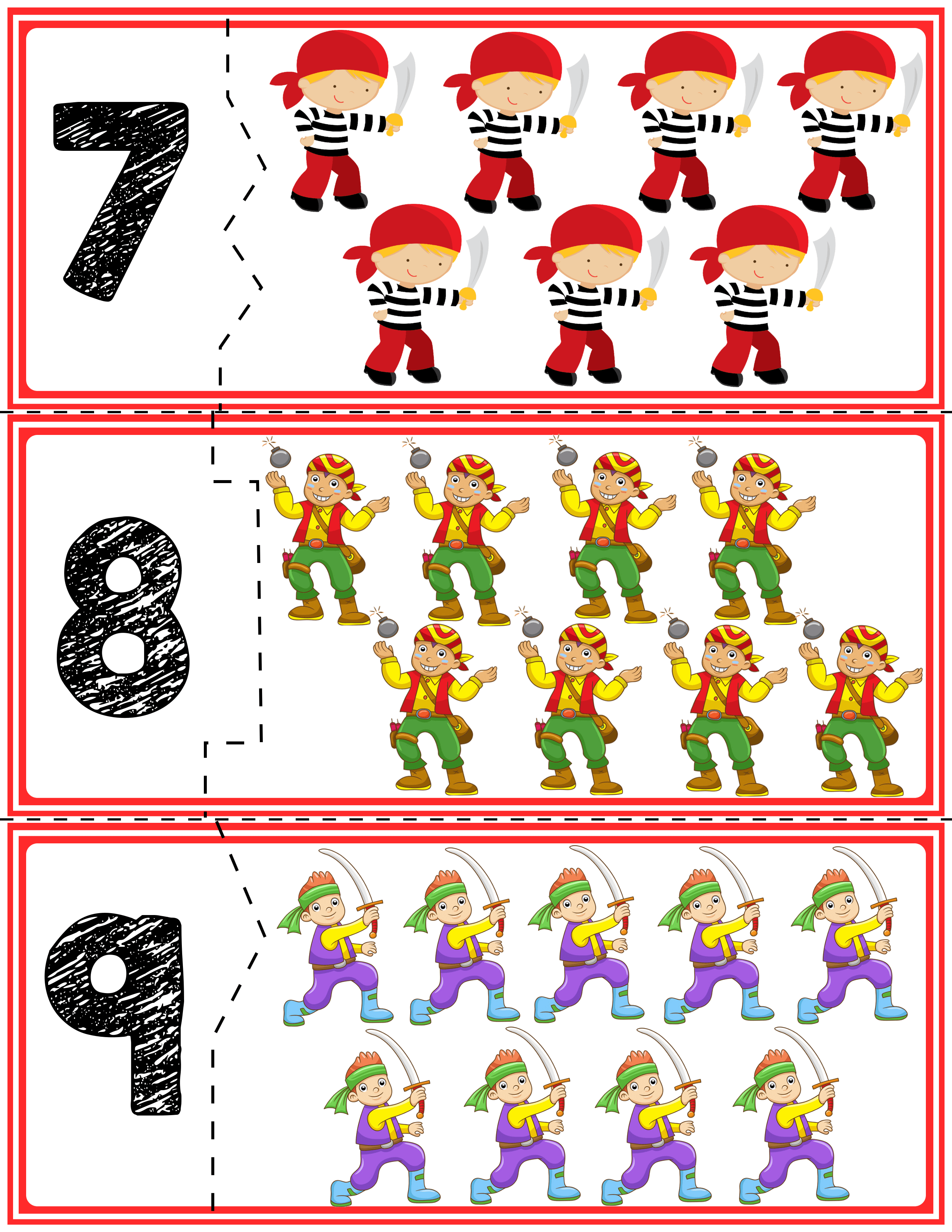 2 Teach Counting Skills With Pirates Great For Teaching 1 1 Counting Skills And Number Recognition For Numbe Pirates Preschool Activities Teaching Counting [ 3300 x 2550 Pixel ]
