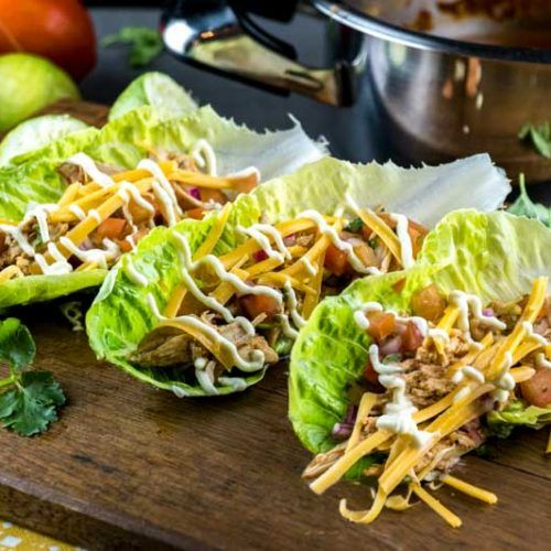 Low-Carb Shredded Chicken Tacos YT #shreddedchickentacos