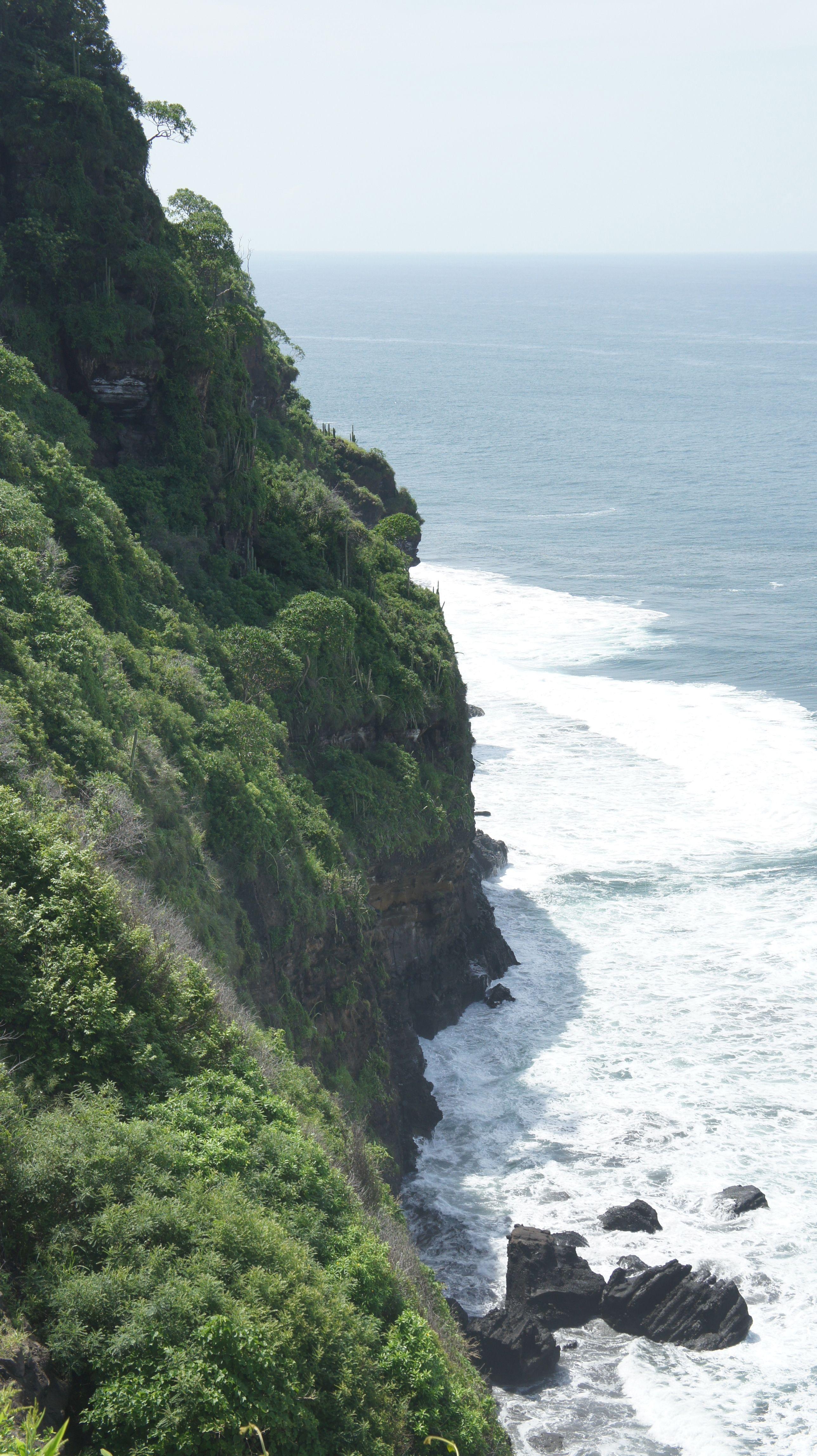 The dramatic coast of El Salvador near