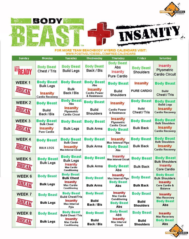 Body Beast Workout Free Insanity | sport1stfuture org
