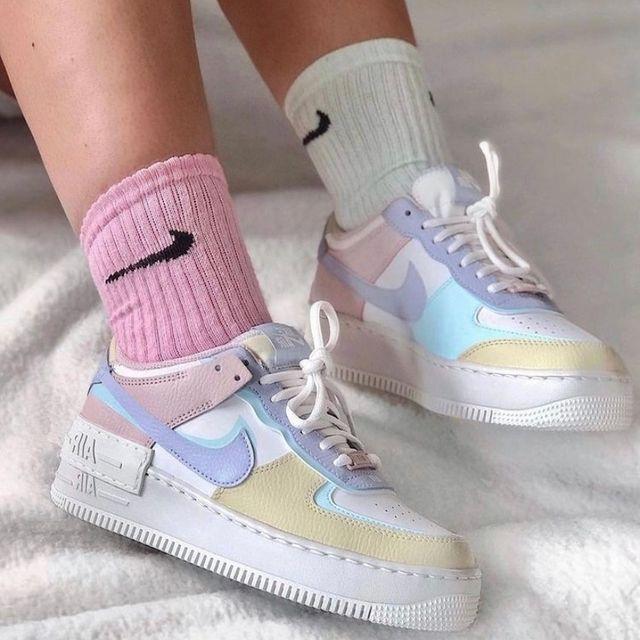 Nike Air Force 1 New Shadow Pastel en 2021 | Chaussure nike air ...