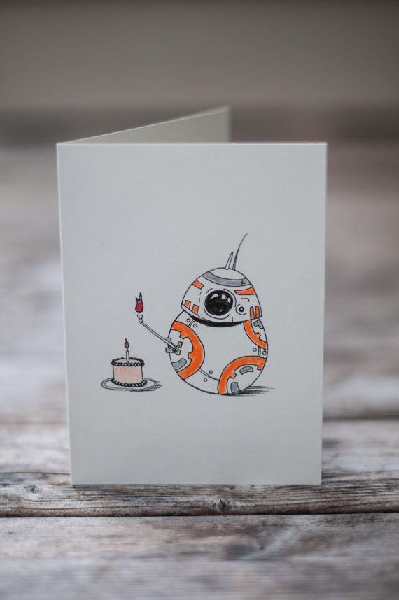 bb8 birthday card  star wars birthday card  star wars