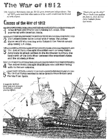 Printables War Of 1812 Worksheet 1000 images about war of 1812 on pinterest lwren scott william henry harrison and uss constitution
