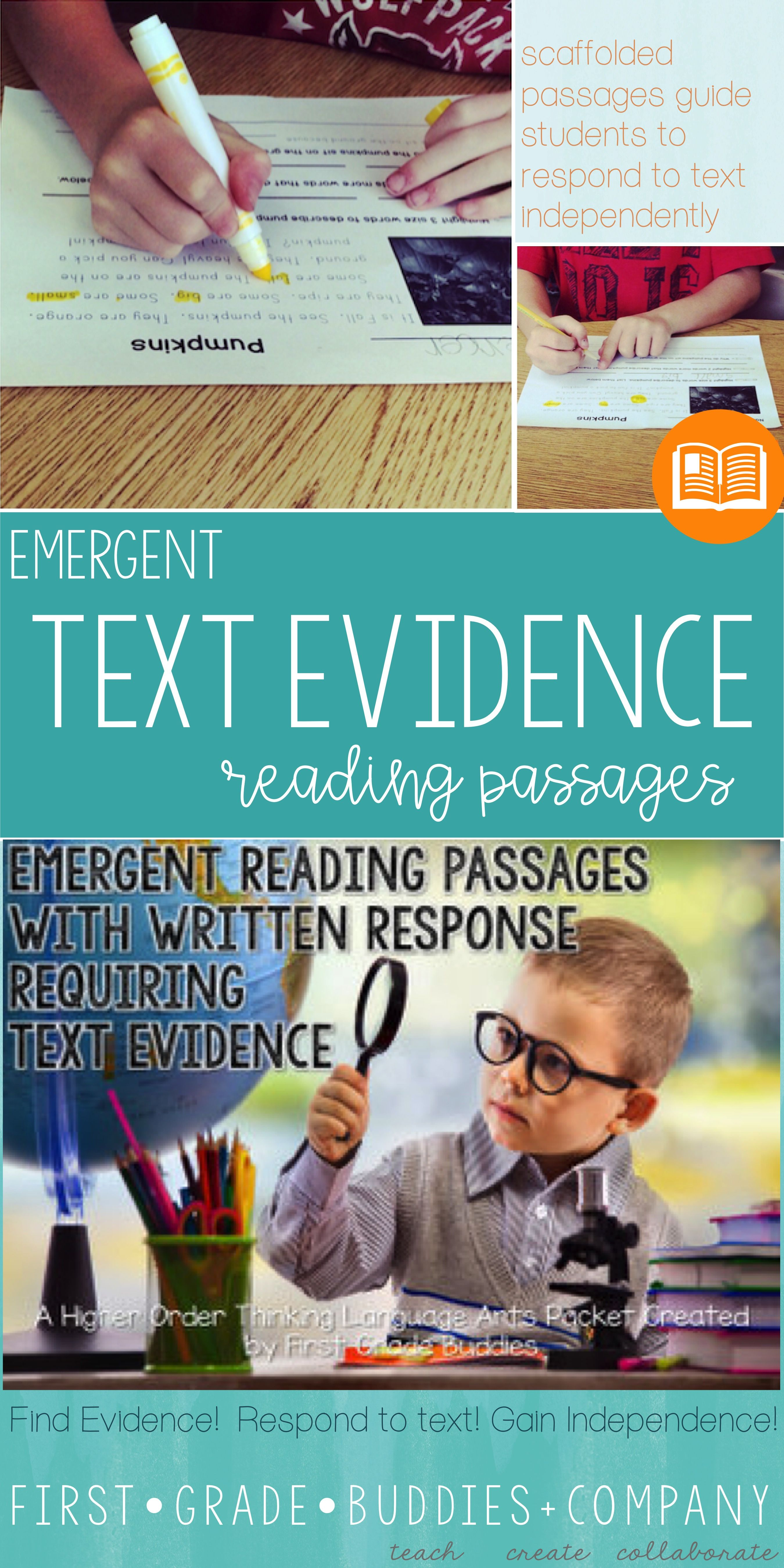 Emergent Text Evidence Reading Passages With Comprehension