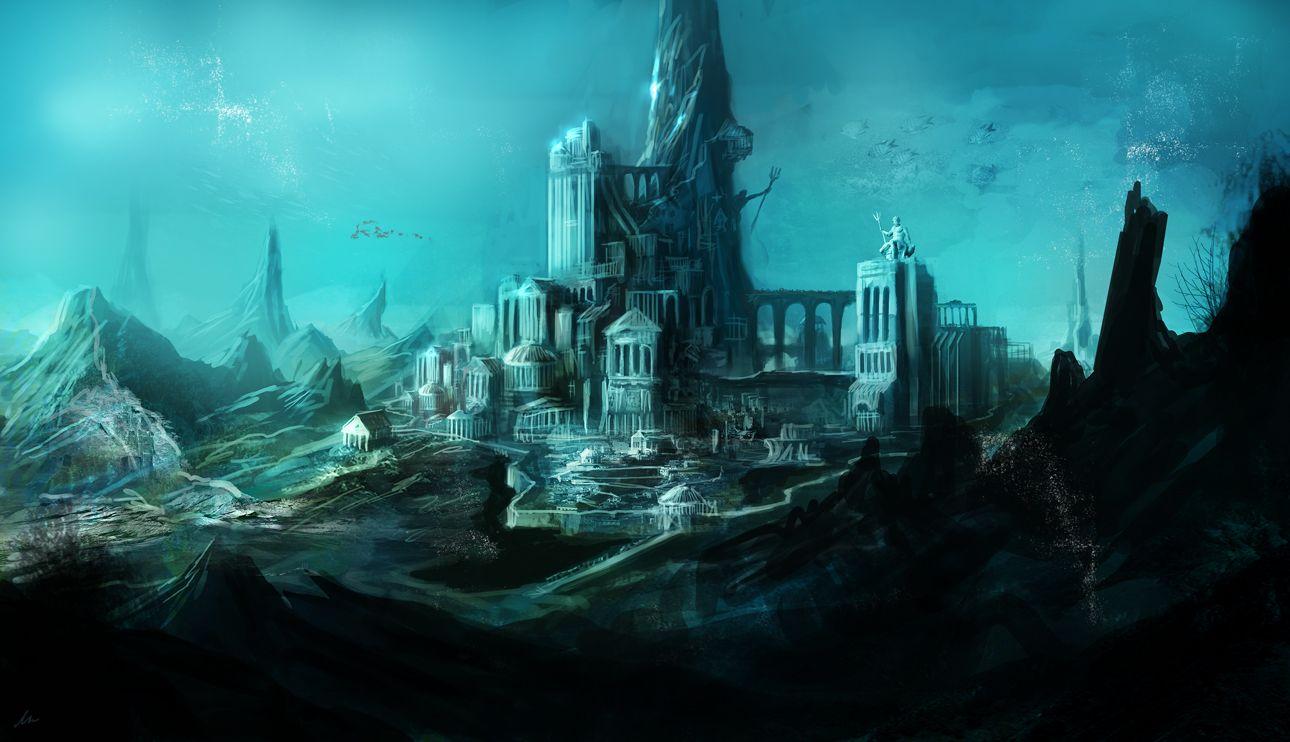 Atlantis Fantasy Art Landscapes Underwater City Sunken City