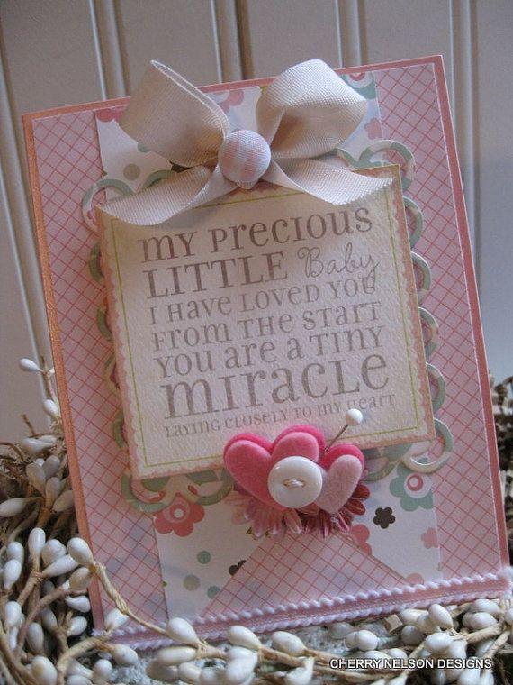 shabby baby cardmy PRECIOUS LITTLE BABY i by cherrysjubileecards, $7.50