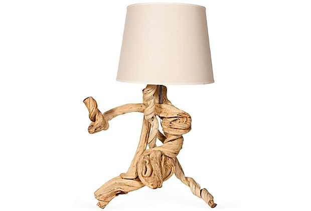 Oversized Driftwood Table Lamp Driftwood Table Table Lamp Lamp