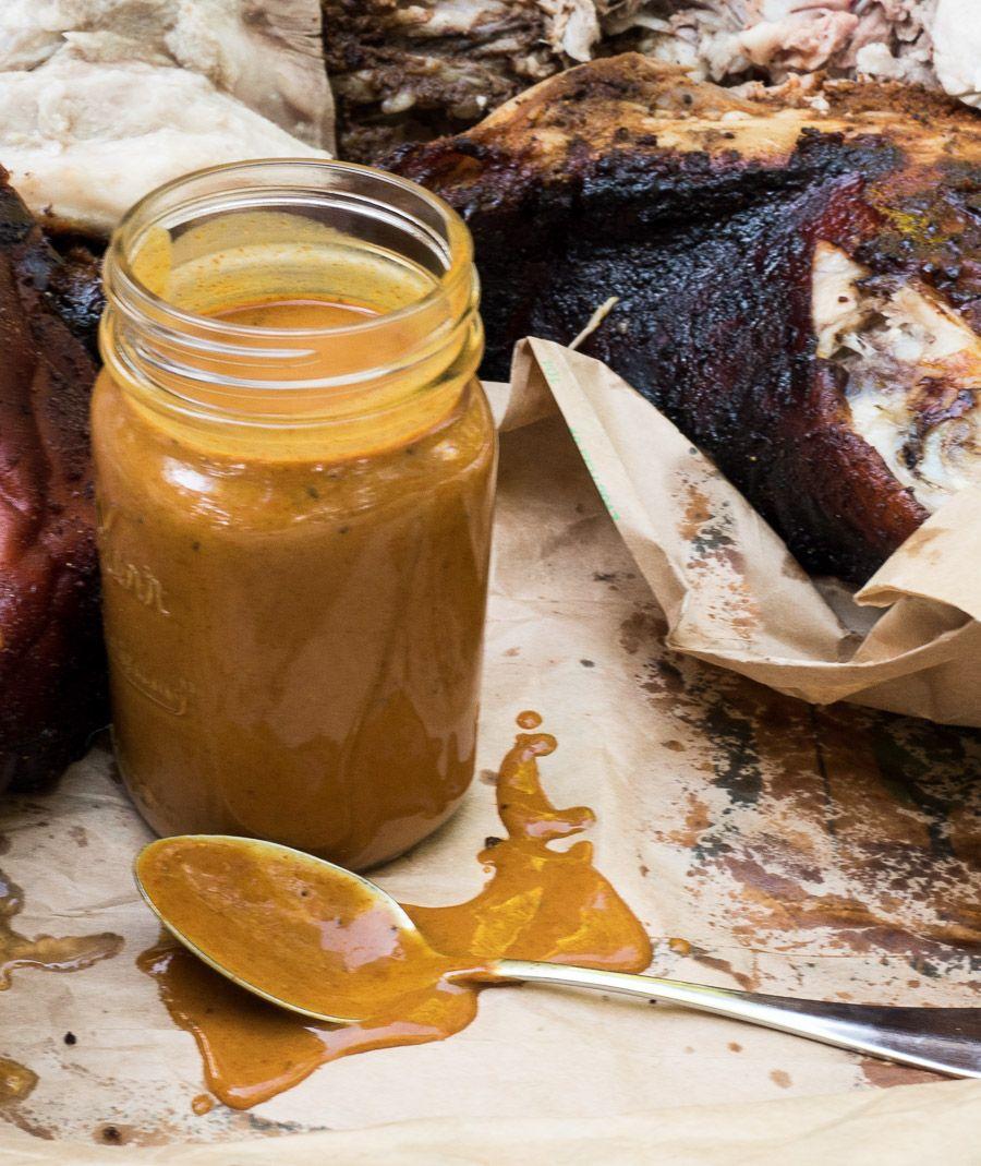 Carolina mustard sauce #porksausages