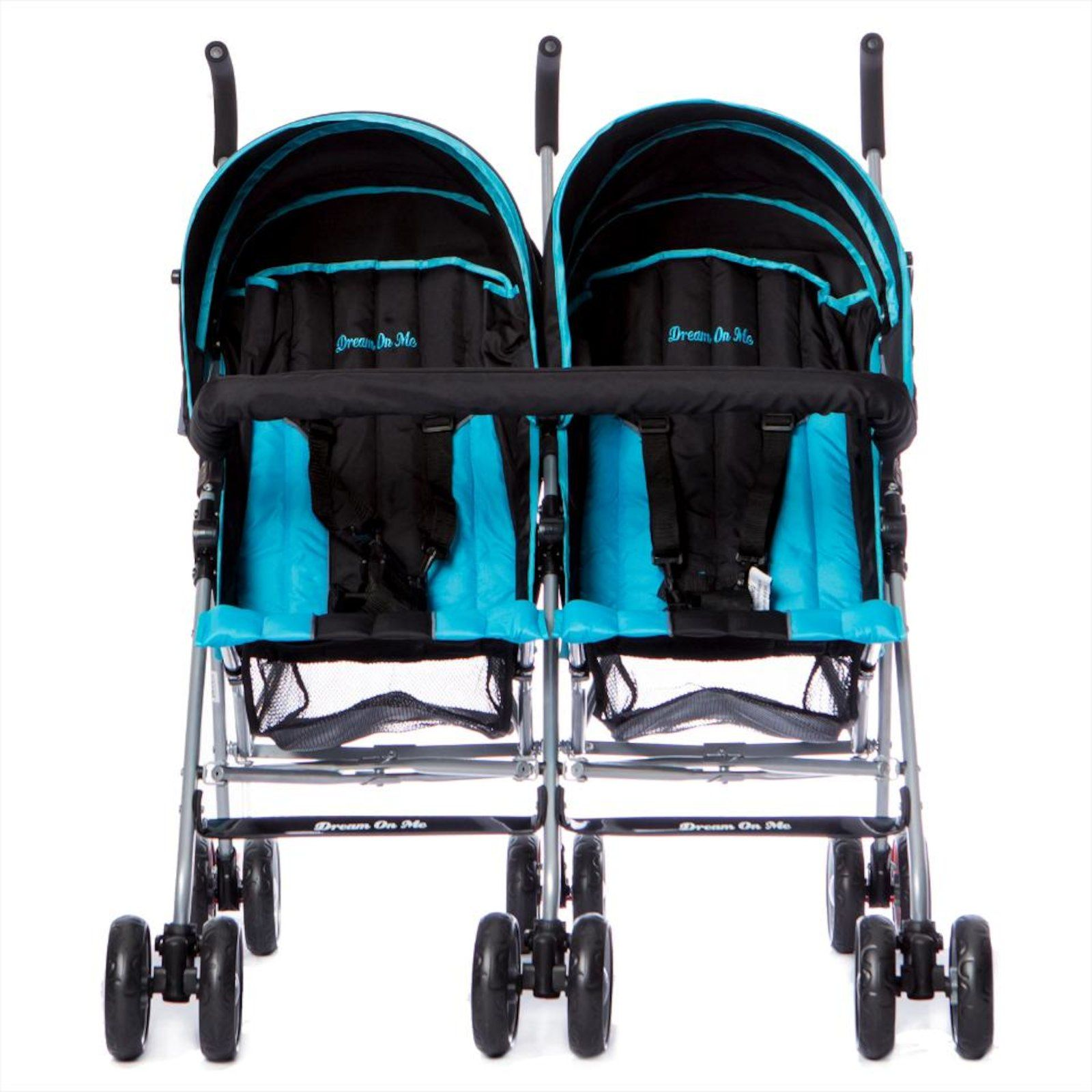 Dream On Me Ultra Lightweight Twin Stroller Black/Blue