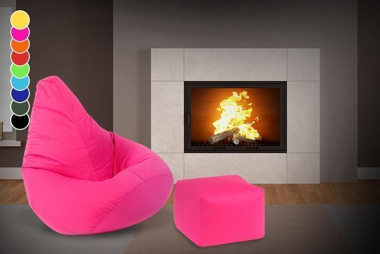 Beanbag & Footstool - 9 Colours!