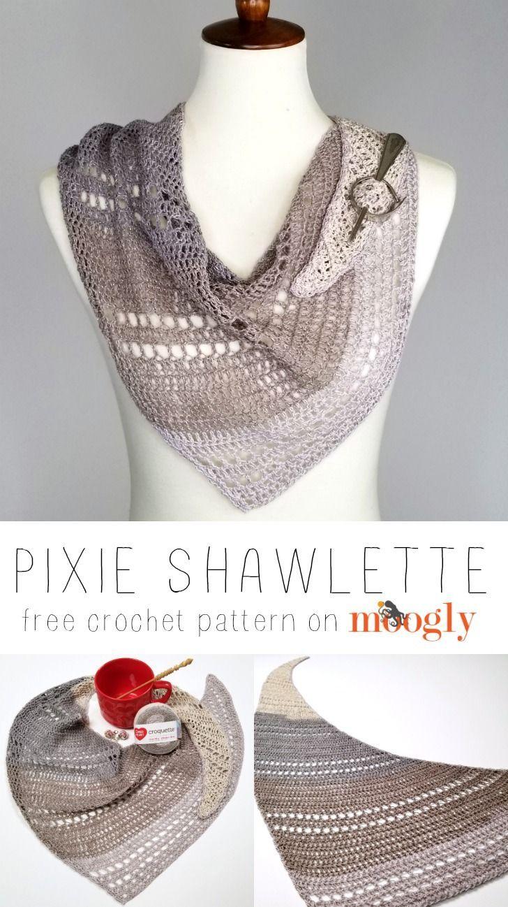 Photo of Pixie Shawlette – Kostenloses Häkelmuster für einen Strang auf Moogly