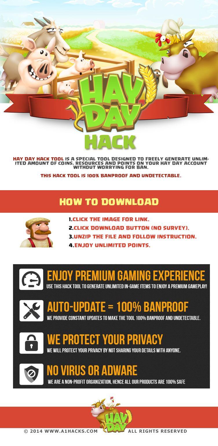 Hay Day Hack Online Hay Day Hack by simply visiting the