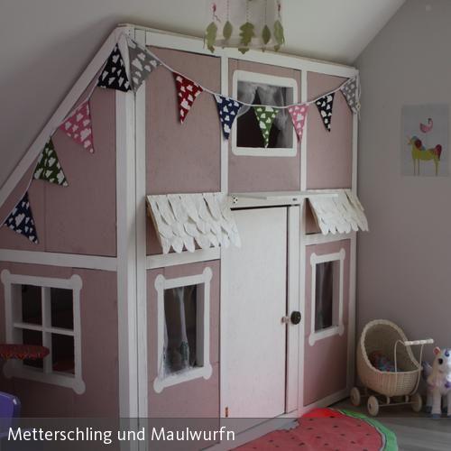 DIY Hausbett & Spielzimmer in einem in 2020 Kinder