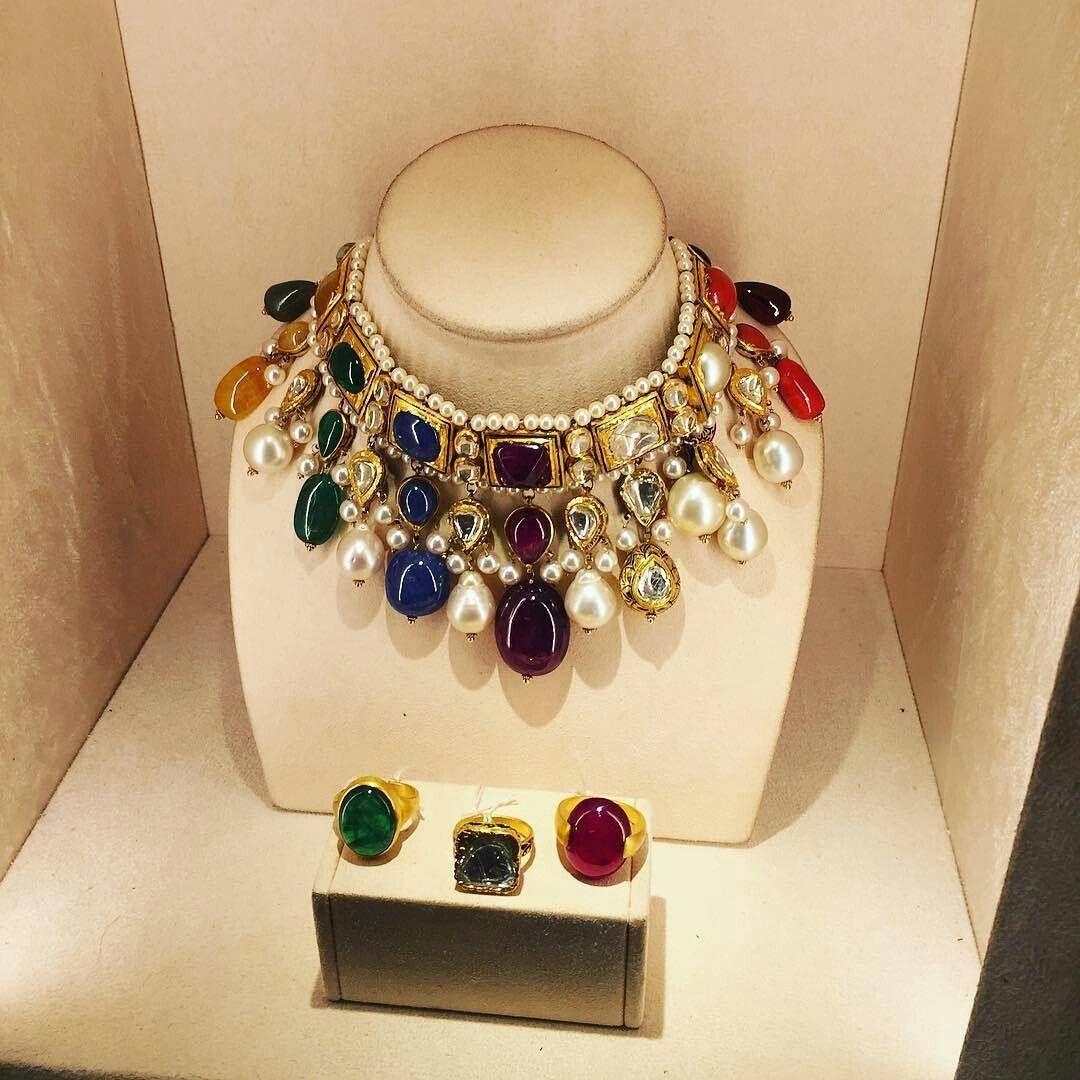 Thejewellcloset navratan necklaces a navratan consists of