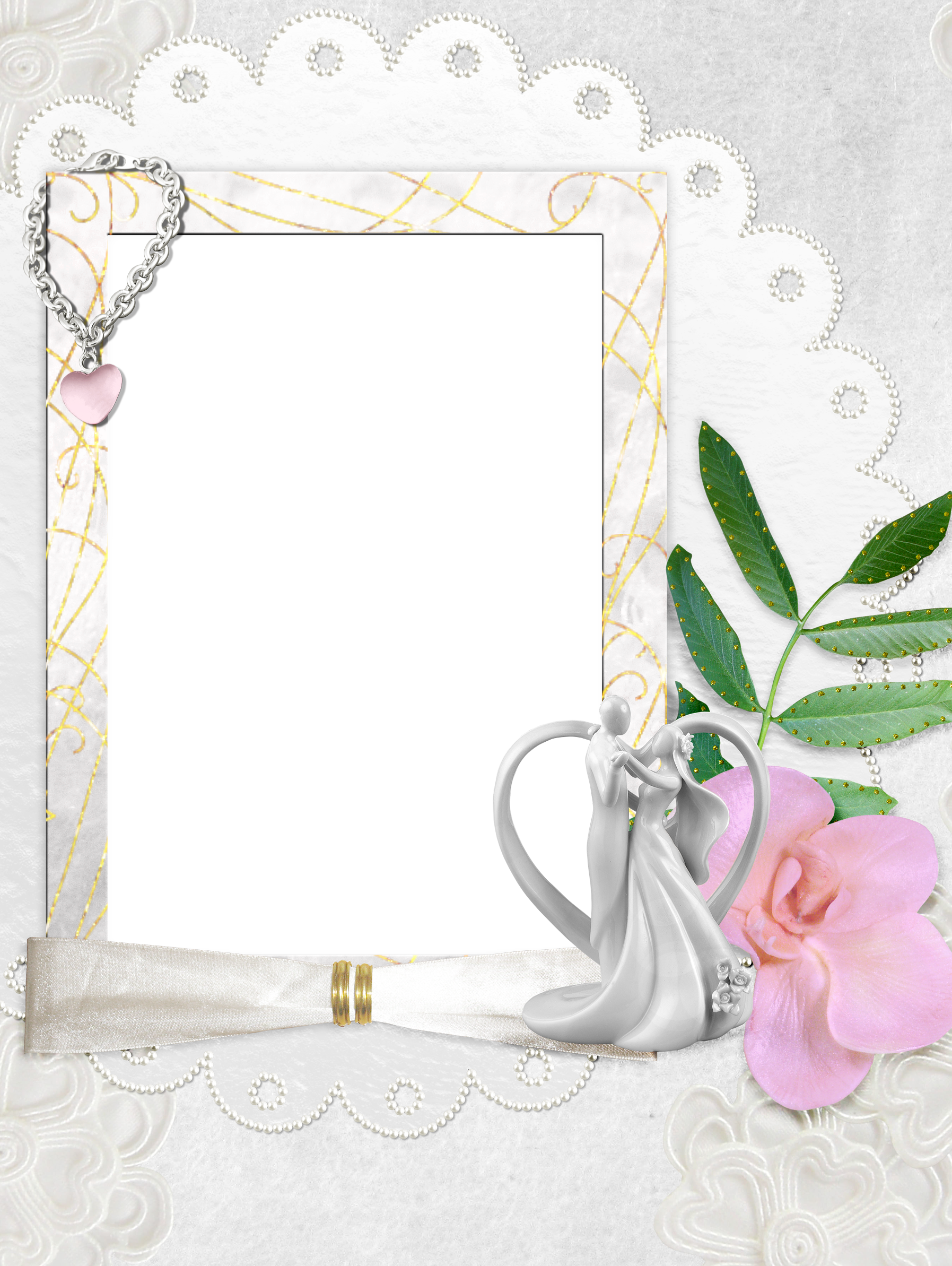 White Transparent Wedding Frame | Marcos✨ | Pinterest