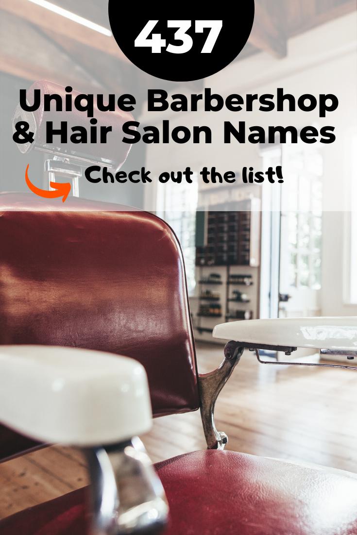 Idées de noms de salon de coiffure #barbershopideas Noms de