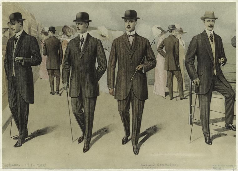 Men In Suits England C 1911 Source NYPL