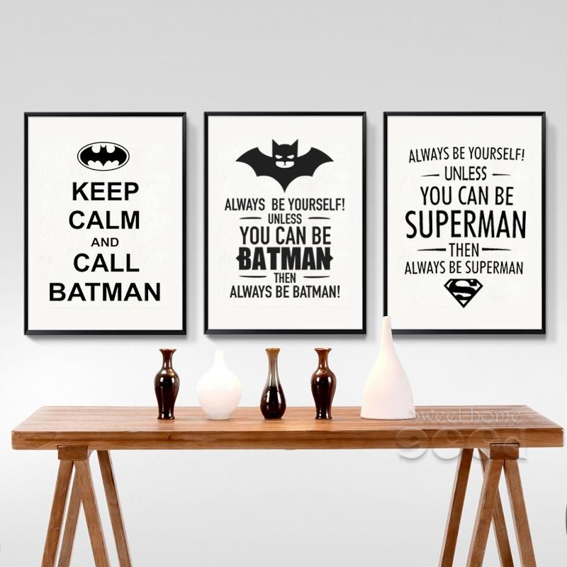 Always Be Yourself Batman Inspired Wall Art Home Decor Decal Vinyl Sticker