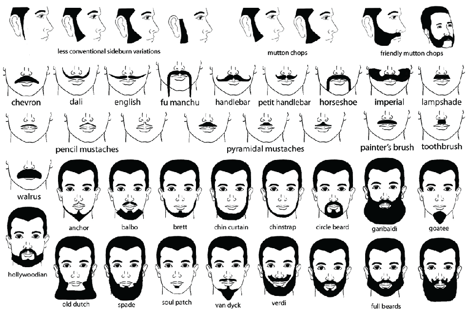 Facial Hair Styles Beard No Mustache Mens Facial Hair Styles Beard Names