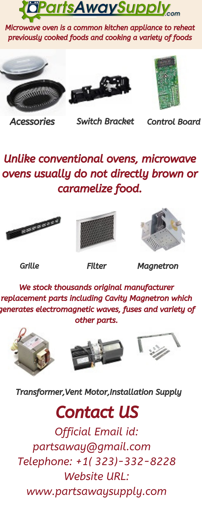 microwave parts microwave repair