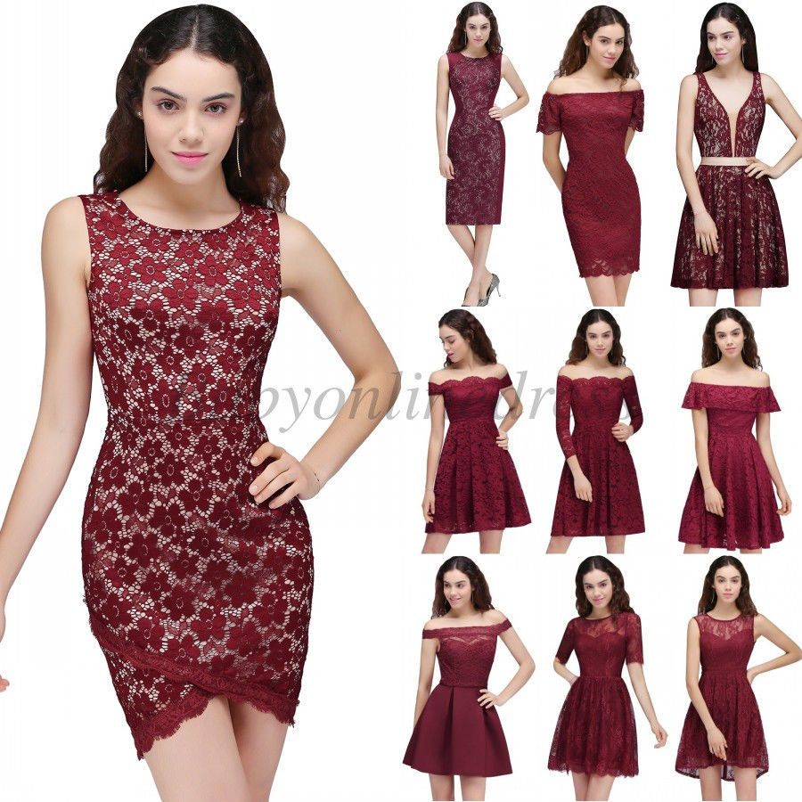 Awesome awesome burgundy short homecoming cocktail dress vintage