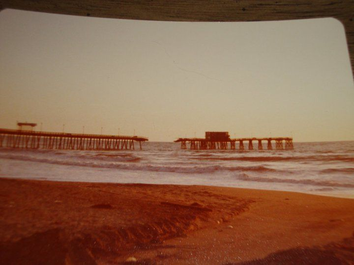 Imperial beach pier after major storm in early 80s