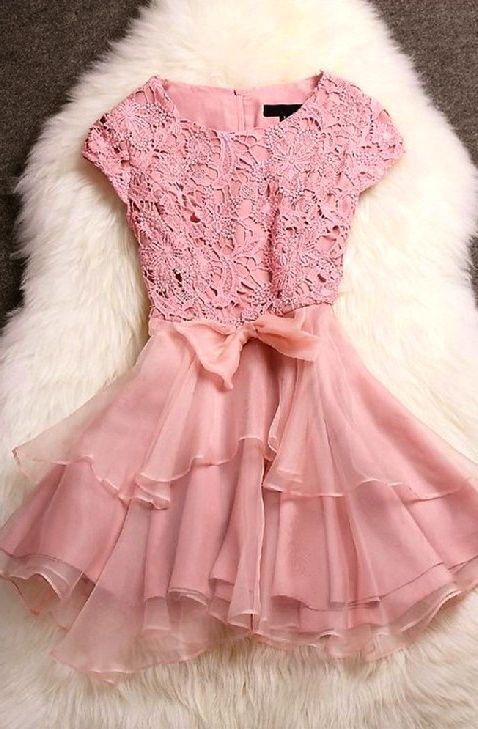 Openwork Stitching Dresses