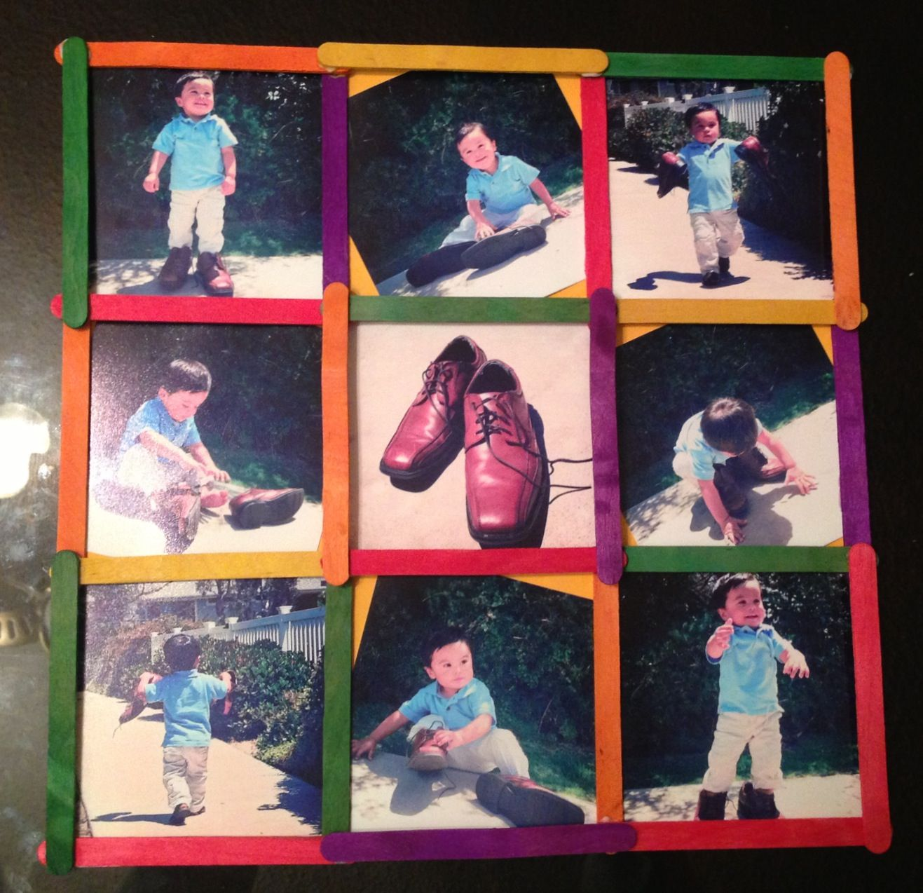 Father's Day Wooden Stick Collage
