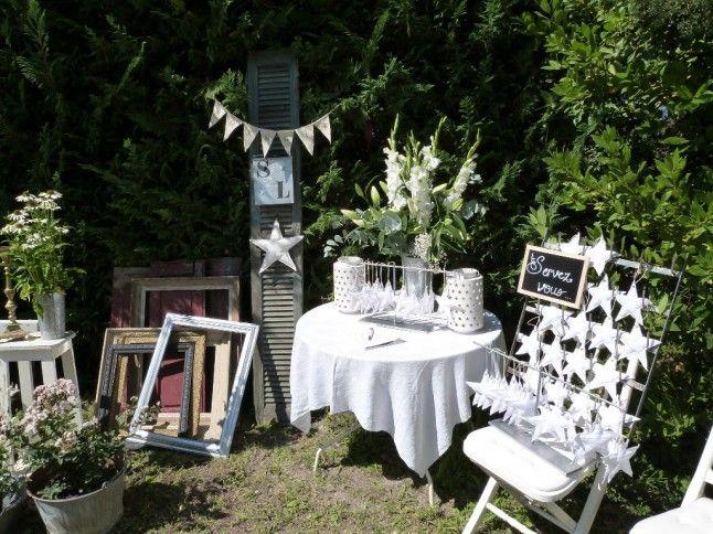 Le mariage champêtre à domicile de sophie brocante et fait main à lhonneur
