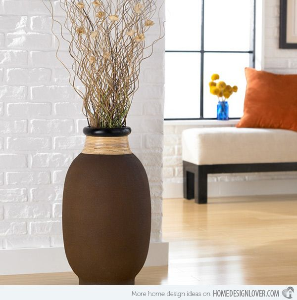 Elaborate beauties of 15 floor vase designs rattan for Floor vase ideas