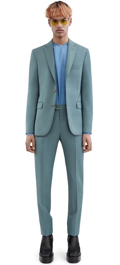 Acne Studios Drifter j stc dark navy Fitted suit jacket | Suits ...