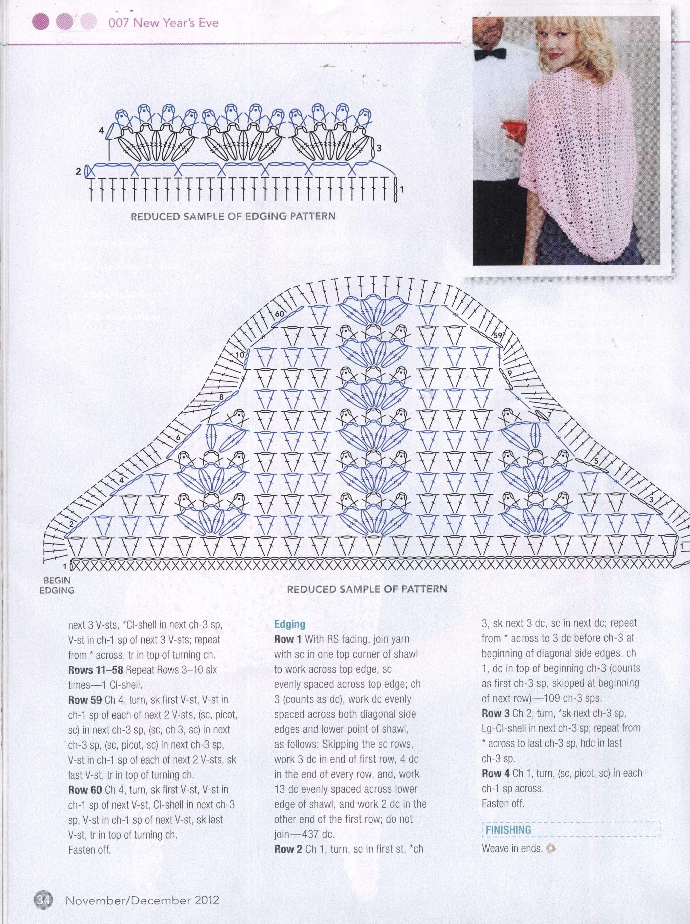 Pretty pink shawl | Crafts | Pinterest | Chal, Ganchillo y Crochet capas