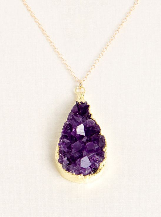 Raw amethyst necklace shes got the look pinterest amatistas raw amethyst necklace shes got the look pinterest amatistas joya y accesorios aloadofball Gallery
