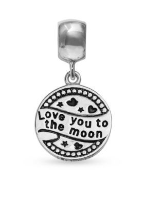 Belk Silverworks  Love You to the Moon and Back Drop Originality Bead