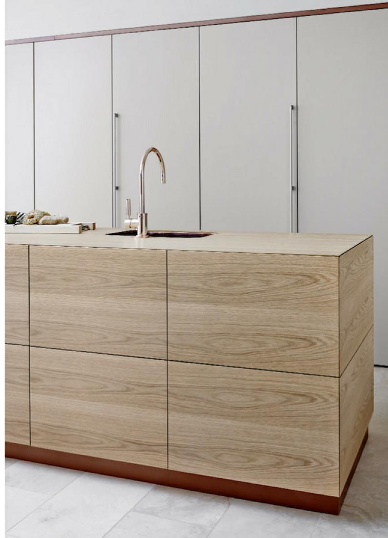 Schlichte Holz-Küche mit Kochinsel in modernem Design | Pinterest ...