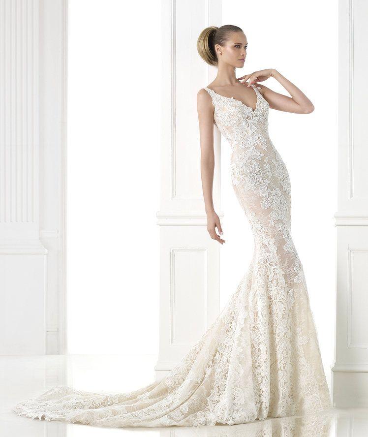 vestido de novia guipur
