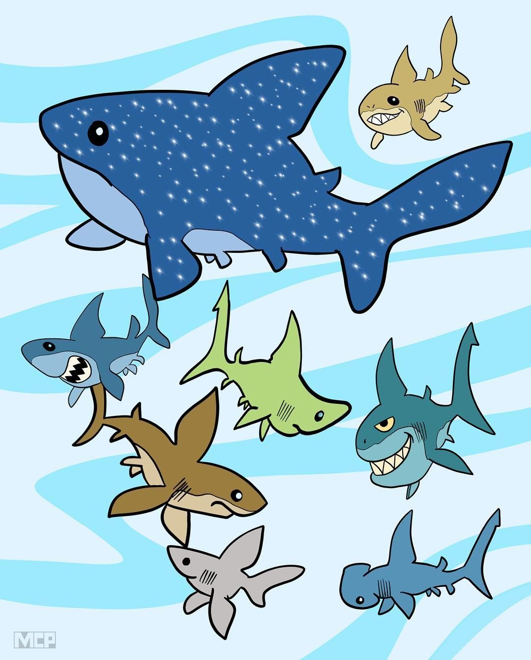 A Shiver of Sharks shark tiburon requin haifisch sharks