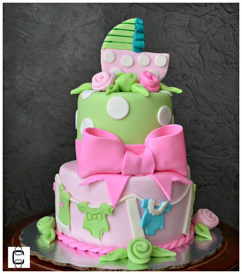 BABY SHOWER CAKE IDEAS / BABY SHOWER CAKE FOR GIRL / PASTEL DE BABY SHOWER  DE