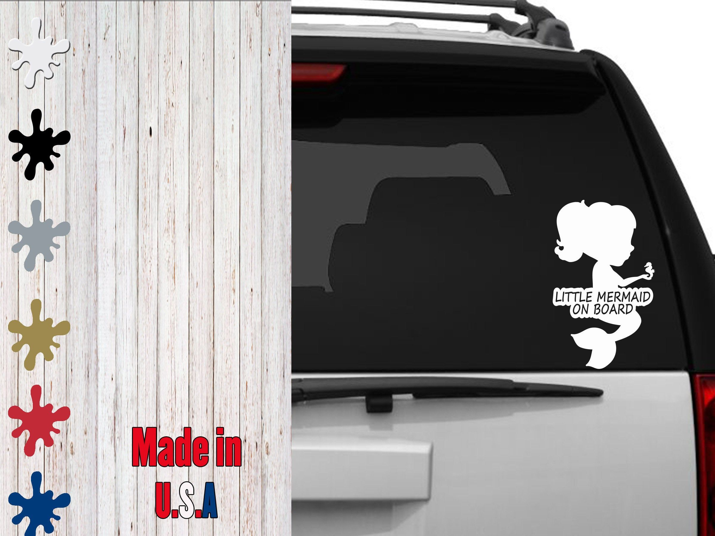Little Mermaid On Board Decal Choose Your Size Car Decal Laptop Decal By Veiledtrove On Etsy Family Baby Lo The Little Mermaid Laptop Decal Baby Mermaid [ 1800 x 2400 Pixel ]