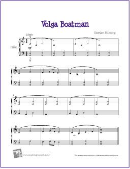 Volga Boatman With Images Sheet Music Piano Sheet Music