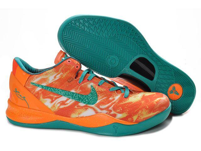 Mens Nike Zoom Kobe 8 VIII Lifestyle Orange/Green On Sale,nice shop to get cheap  kobe 8