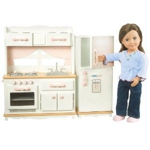 Our Generation Kitchen for American Girl house so pretty in white ...