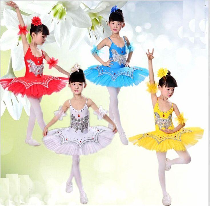 Ballet Gymnastics Leotard Dance Dress For Girls Tutu Skirt Ballet Clothes Childr