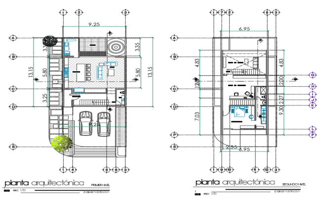 Architectural layout plan of house, architectural plan dwg