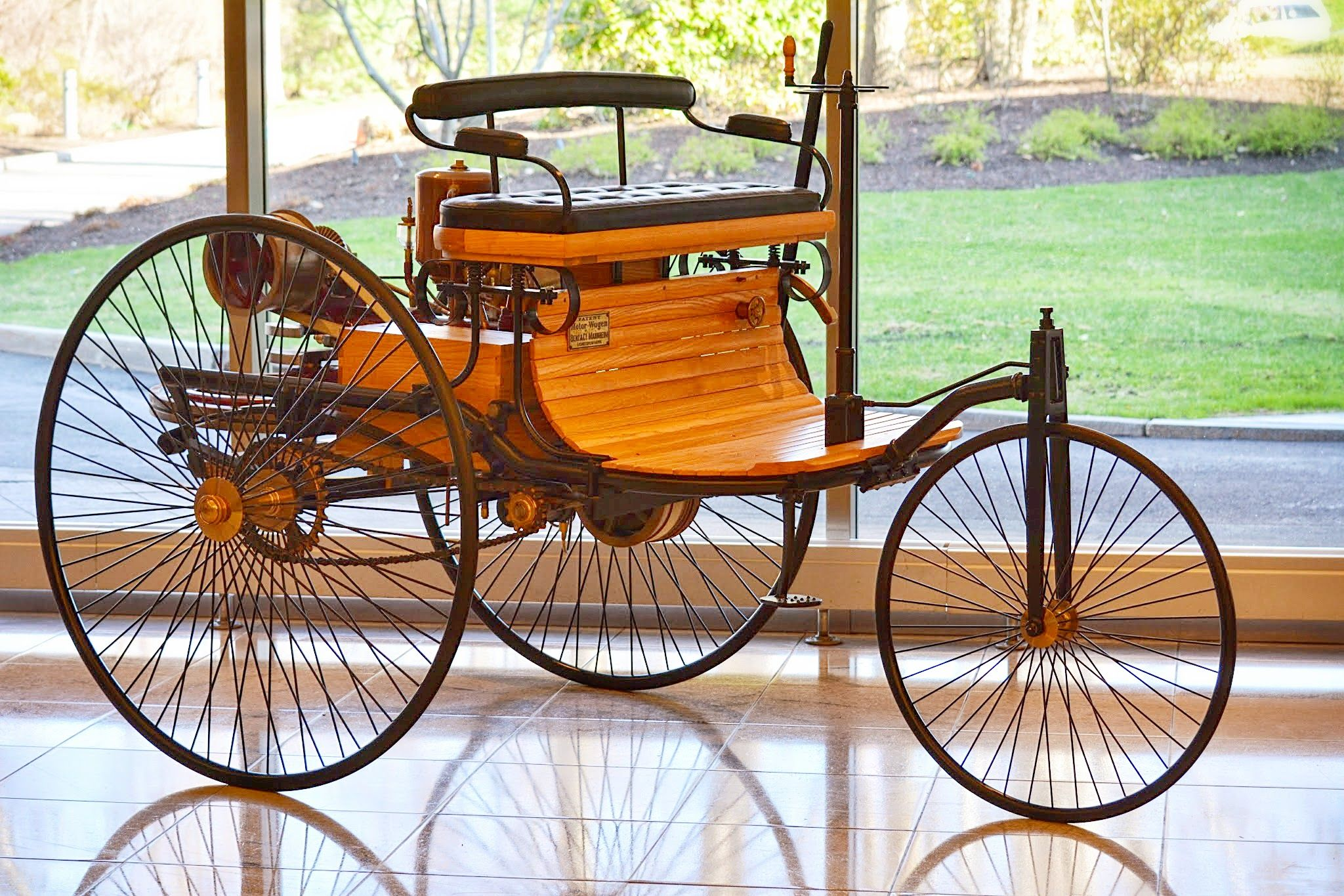 The Benz Patent-Motorwagen (or motorcar), built in 1886, is widely ...