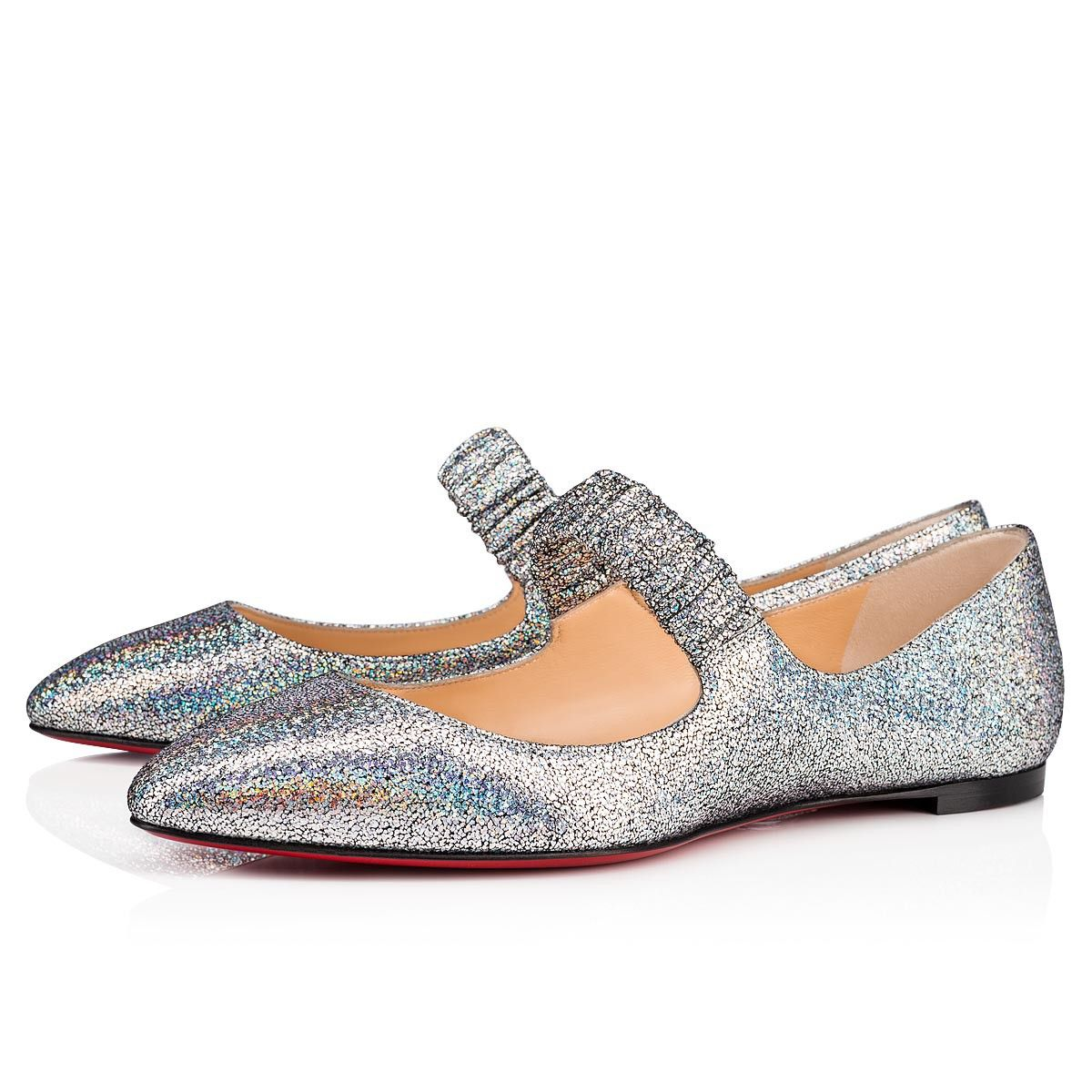 6fe9af455e0f Christian Louboutin United States Official Online Boutique - M A Gil Flat  Silver Nappa Mica available online. Discover more Women Shoes by Christian  ...