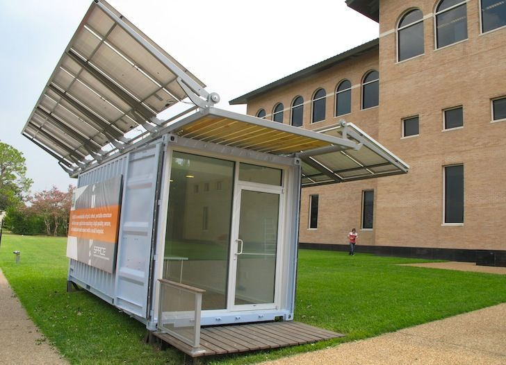shipping containers office. Solar-Powered SPACE Shipping Container Office Produces Twice As Much Energy It Consumes Containers