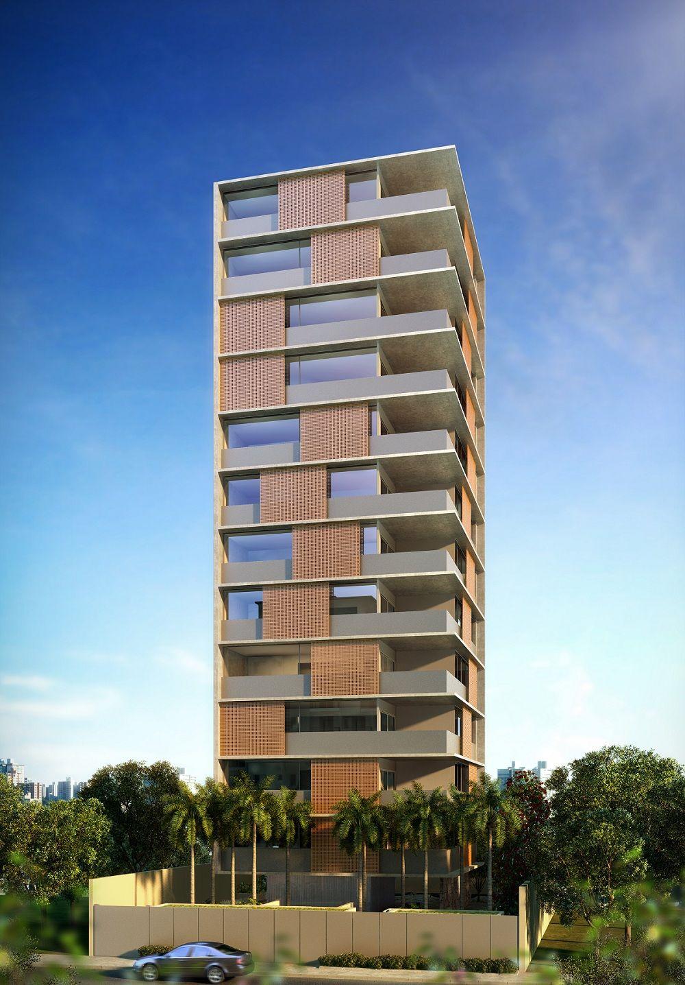 vertical itaim imagem ilustrativa da fachada diurna vertical itaim pinterest immeuble. Black Bedroom Furniture Sets. Home Design Ideas
