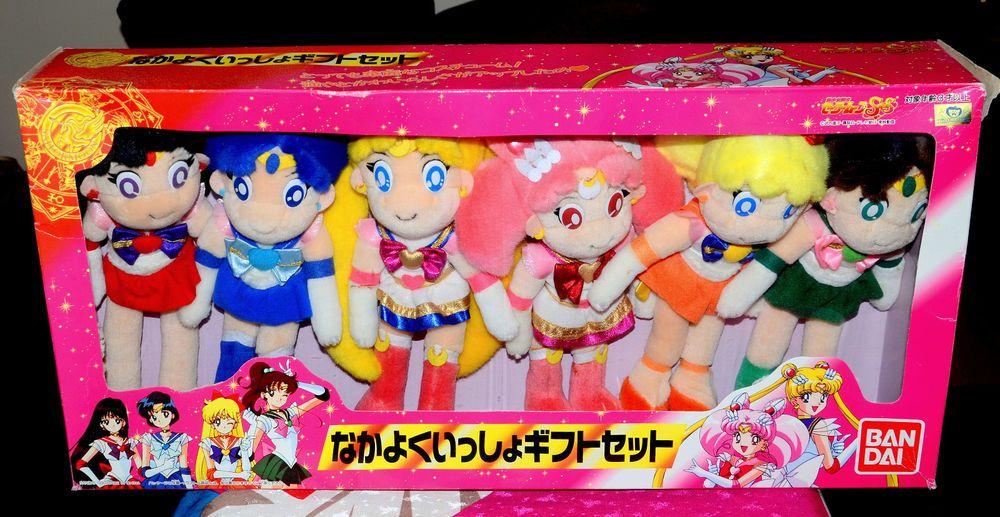 Sailor Moon Supers Plush Doll Stuffed Toy Nakayoku Isshou Gift Set Lot Vintage Bandai Plush Dolls Sailor Moon Toys Sailor Moon