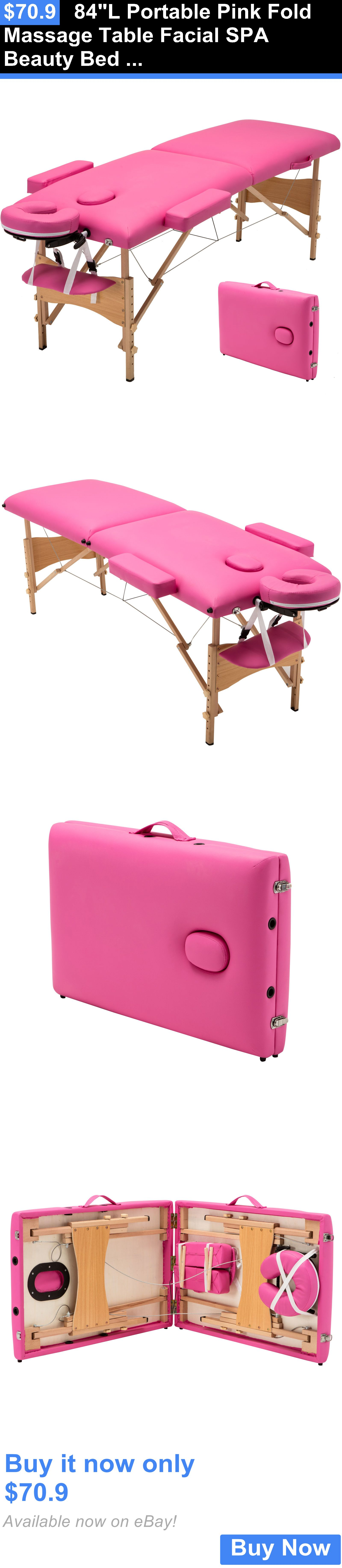 Massage Tables and Chairs 84L Portable Pink Fold Massage